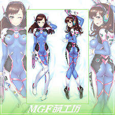 Hot Game Overwatch D.Va Hana Son Dakimakura Body Pillow Cover Case (US Seller)