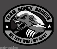 TEAM HONEY BADGER SWAT TACTICAL VINYL DECAL STICKER MILITARY CAR VEHICLE WINDOW