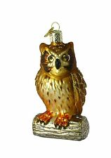 Merck Family's Old World Christmas Wise Old Owl Ornament 16019 NWT