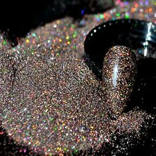 Holographic Brown Nail Art Glitter Powder DIY Manicure Supplies AB Glitter N57