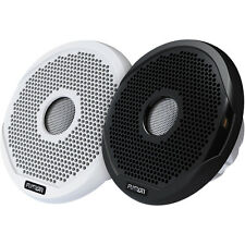 "FUSION 6"" Round IPX65 Marine Speakers 200W Pair White & Black Grills MS-FR6021"