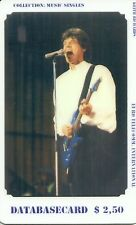 RARE / CARTE TELEPHONIQUE - MICK JAGGER ROLLING STONES PHONECARD LIMITED TO 99EX