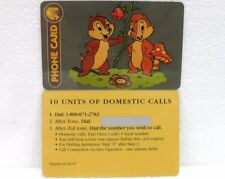 "10 UNITS OF DOMESTIC CALLS-DISNEY ""CIP & CIOP-CHIP 'N' DALE""-sc. 01/31/1997"