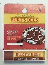 x1 LIMITED EDITION Burt's Bees Ginger Spice Moisturizing Lip Balm 100% natural