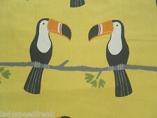 Harlequin Scion Curtain Fabric TERRY TOUCAN 1.2m Tangerine/Charcoal/Maize 120cm
