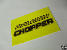 RALEIGH CHOPPER MK 3 SEAT PLATE DECAL - CHOPPER SEAT STICKER