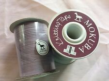"LOT of 2 Mokuba Knitting Tape #1503 Col #27 Mauve Japanese Ribbon Yarn 1/8"" wide"