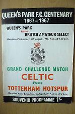 1967 Grand Challenge Match-QUEEN'S PARK v BRITISH AMATURE SELECT & CELTIC v TOTT