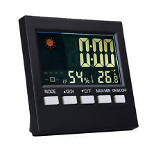 Color LCD Digital Thermometer Hygrometer Temperature Gauge Weather Meter Station