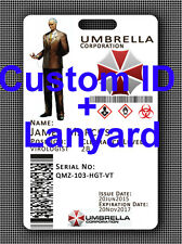 Umbrella Corporation Corp Cosplay ID - FULLY CUSTOMISABLE WITH UMBRELLA LANYARD