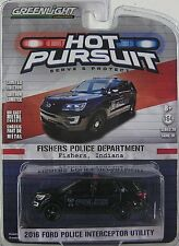 GreenLight Hot Pursuit Series 20- 2016 FORD POLICE INTERCEPTOR UTILITY - FISHERS