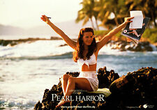 Pearl Harbor original German lobby card Kate Beckinsale poses on rock by sea