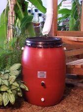 50 Gallon Terra Cotta Snap-On Lid Rain Barrel -FREE SHIPPING