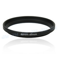 46-49mm Metal Step Up Adapter Ring / 46mm Lens to 49mm UV CPL Filter Accessory