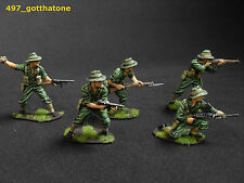 AIRFIX 1/32 painted Australian/ Anzac infantry. War gaming 54mm