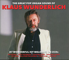 THE GREAT POP ORGAN SOUND OF KLAUS WUNDERLICH 87 WONDERFUL HIT MELODIES ON 2 CDS