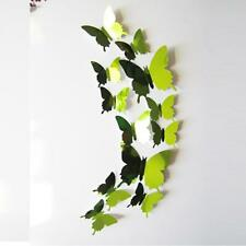 DIY 3D Wall Stickers Decal Butterflies Mirror Wall Art Beauty Home Decors N1