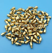 100Pcs M3x5+4mm Female To Male Brass Hexagonal Stand-Off Pillars PCB Mount