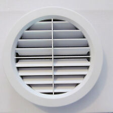"""7"""" WHITE Jet Stream Wide Open Louver Ceiling A/C Filtered Vent Cover Screw RV"""