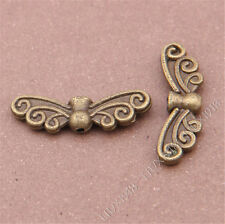 20pc Antique Bronze Angel Fairy Wings Spacer Beads Charms Findings S302T