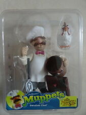 Muppets Palisades mini Swedish Chef with Chicken 3-inch figure RARE FREE SHIP