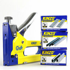 3 IN 1 HEAVY DUTY STAPLE GUN + 600 STAPLES & NAILS UPHOLSTERY TACKER STAPLER