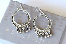 Silpada Sterling Silver Hammered Circle Cha Cha Bead Earrings W1526 RARE