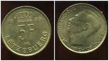 LUXEMBOURG  5 francs 1989