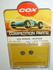 1 Pair Axle Bearing Nylatron Official by COX #3388 1960's Vintage NOS slot car