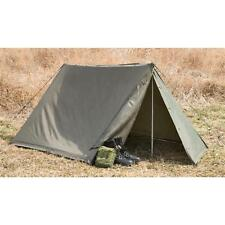 Austrian Military Shelter Half Complete Pup Tent for Compact Camping Backpacking