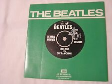The Beatles 45 & Picture Sleeve from single collection-I FEEL FINE/SHE'S A WOMAN