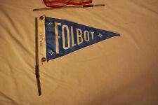 VINTAGE ORIGINAL FOLBOT KAYAK BLUE FOLBOT FLAG AND SPRING POST BOAT MARITIME