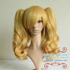 Rozen Maiden True Red Fashion Blonde Cosplay Hair Stylish Wig+Clip Ponytail