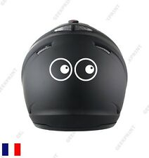 STICKER AUTOCOLLANT CASQUE MOTO SCOOTER YEUX CARTOON HUMOUR FUN MARRANT DROLE