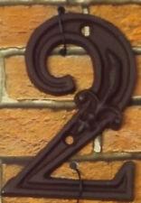 Gußeisen Hausnummer Nummer 2 Nostalgie Zahl Ziffer Lilie Landhaus ca. 8*11cm
