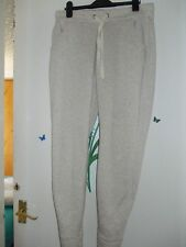 PAPAYA CREAM MARL FLEECE LINED TAPPERED LESIURE FITNESS JOGGING TROUSERS SIZE 12