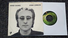 John Lennon/ The Beatles - Mind games US 7'' Single WITH COVER