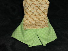 Fisher Price Loving Family Dollhouse Chair Cloth Slip Cover Green & Tan