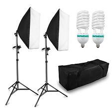 2 x 125w Kit d'éclairage Continu Studio Photo Softbox Lumière Continue 5500k