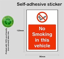 NO SMOKING in this vehicle #1 sticker - Self-adhesive bus car taxi PRNT1006