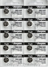 10 pc 390 / 389 Energizer Watch Batteries SR1130W 1130 0% HG