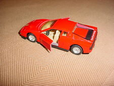 NEW DISPLAY CASE KEPT FERRARI TESTAROSSA RED SCALE 1/39 ZYMOL WAXED