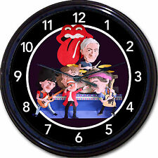 ROLLING STONES CLOCK MICK JAGGER KEITH RICHARDS RONNIE WOOD CHARLIE WATTS 10""