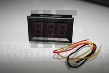 Voltmetro da pannello 0-99.9V  rosso misuratore tensione tester