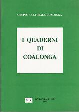 STORIA VENETO I QUADERNI DI COALONGA. N. 9 1996