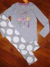 SZ 5 T BABY GAP Gymboree 2pc Flamingo Top Gray Leggings Outfit Girl Kids New NWT