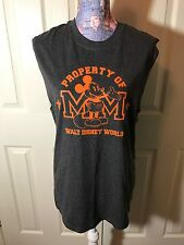 Small Mickey Mouse Property of Walt Disney World Gray Sleeveless Tank Top NWT M