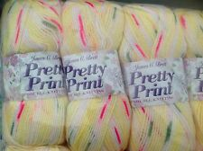 JAMES C BRETT PRETTY PRINT BABY DOUBLE KNITTING WOOL 5X100G YARN KNIT SHADE P10