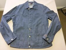 096 MENS NWOT DIESEL GREY BLUE DENIM LOOK BUTTON UP L/S JACKET LRG $200 RRP.