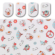 Manicure Water Decal Lovely Fortune Cat Transfer Sticker Nail Art Decoration